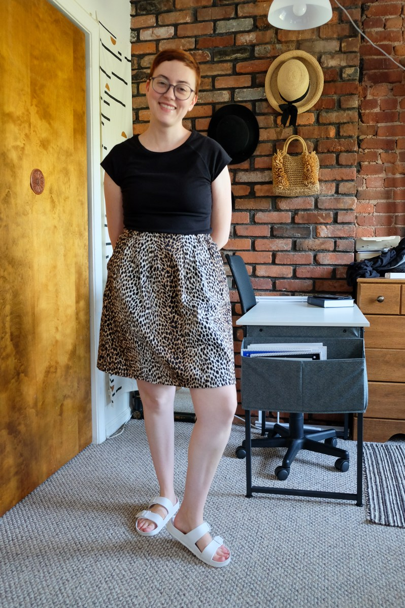 cheetah print skirt styled