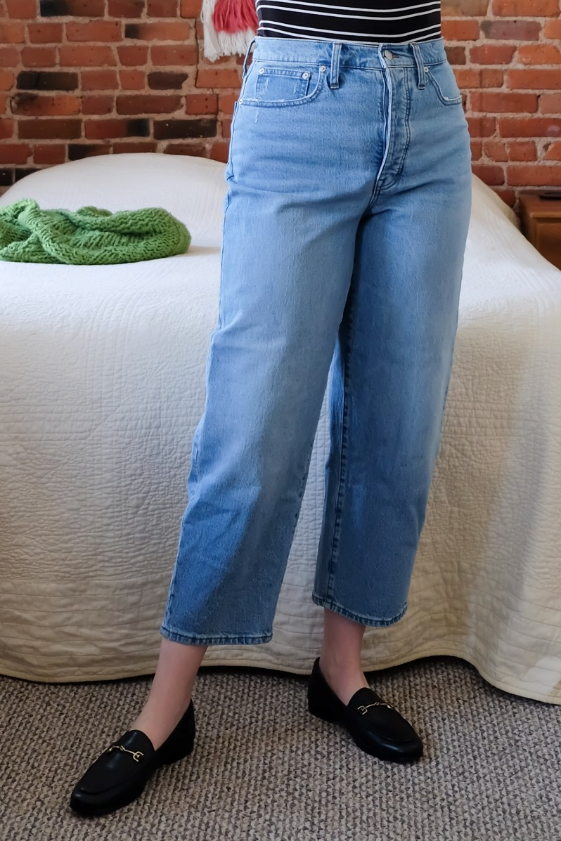 Madewell Balloon Jeans Review - size 30 mid-size blogger