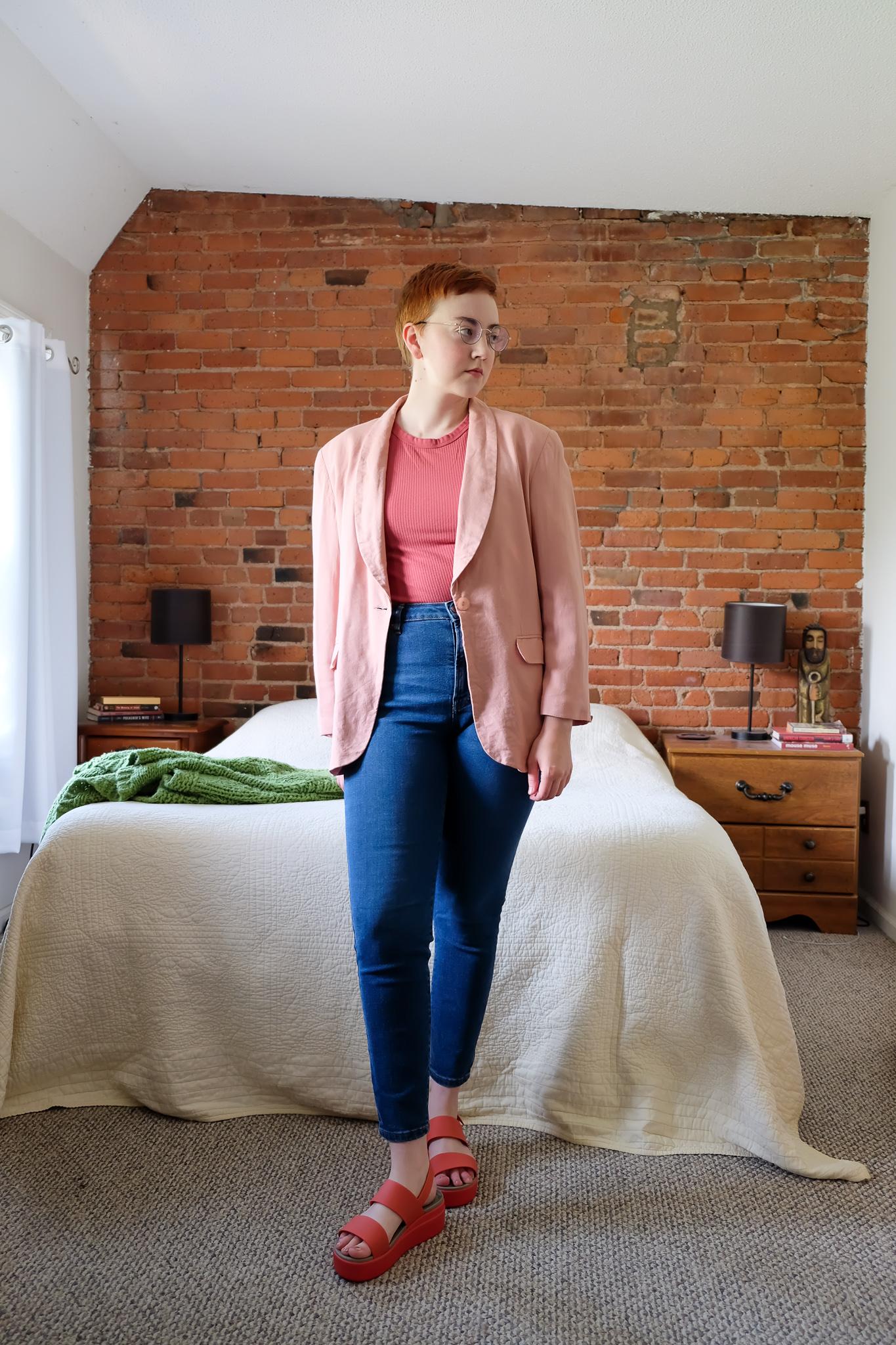A Thrifted Pink Blazer