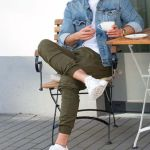 Jogger Pants paired with a Denim Jacket