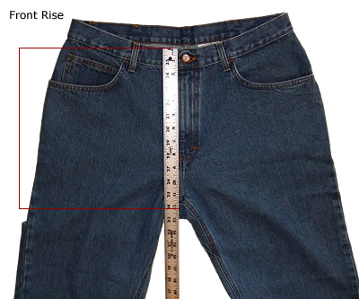 Rise in Jeans
