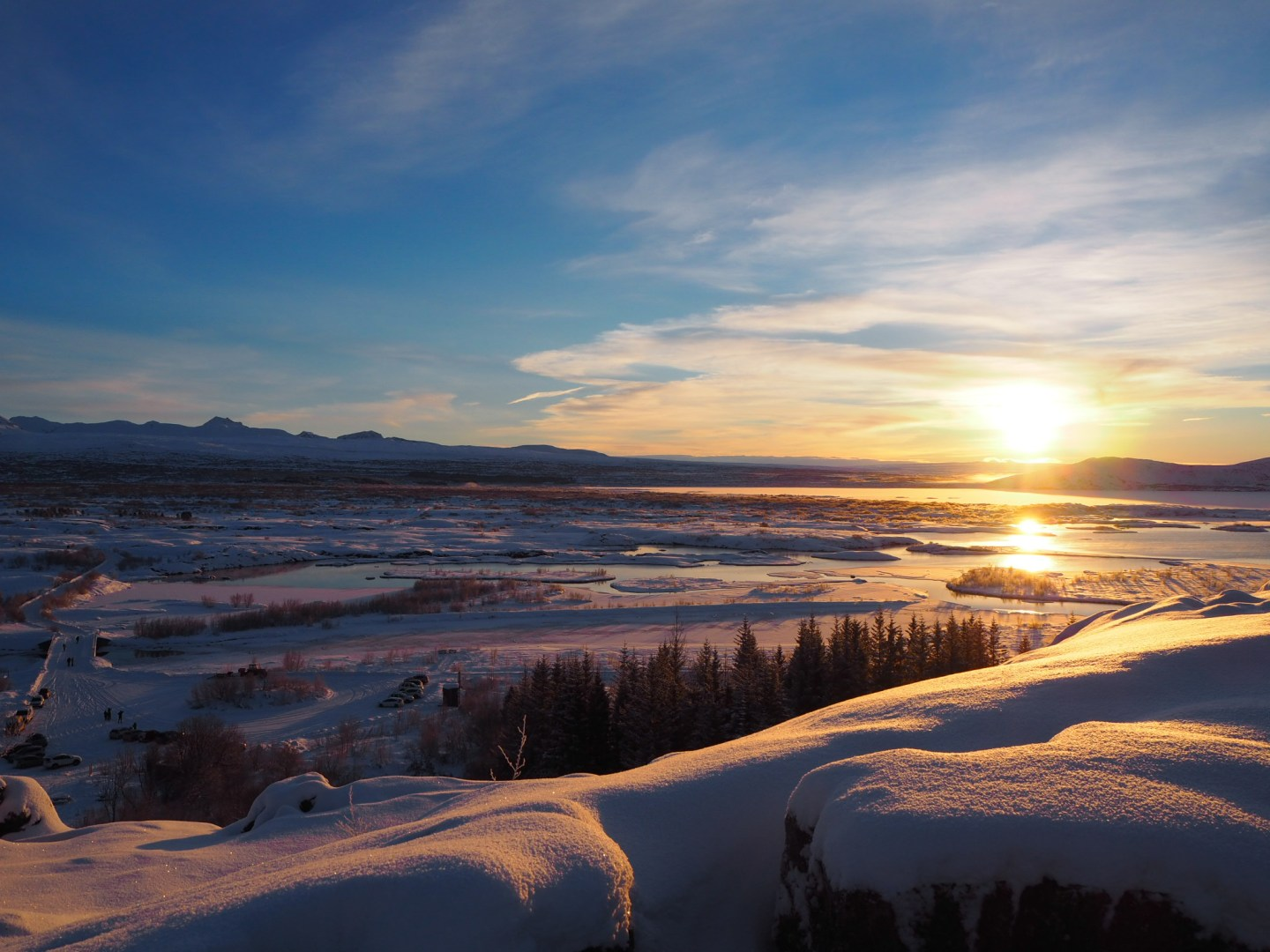 Thingvellir National Park, Iceland, Sunrise