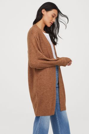 Dark Beige Long Cardigan