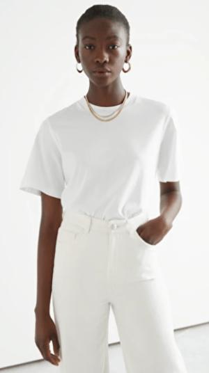 White Boxy Organic Cotton T-Shirt