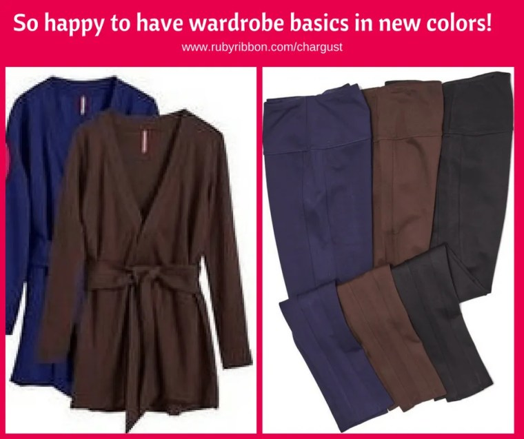 So happy to have wardrobe basics in new colors!