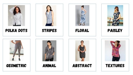 8 examples motifs of prints and patterns