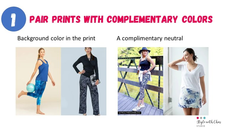 How to pair prints with complementary colors