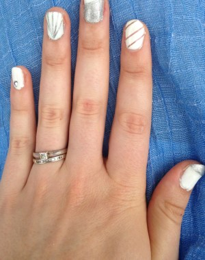 Silver and White Nails Feature Image