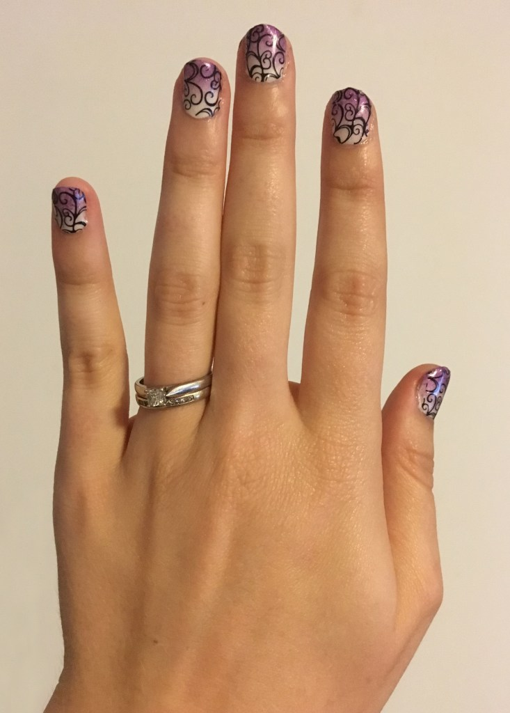 Purple Ombre Swirl Nails 2