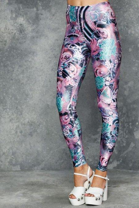 Koi Pink High Waisted Velvet Leggings