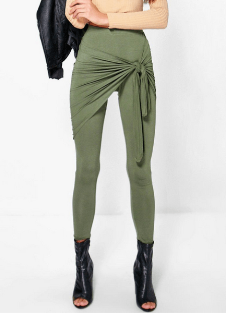 Giana Rouched Side Tie Waist Leggings