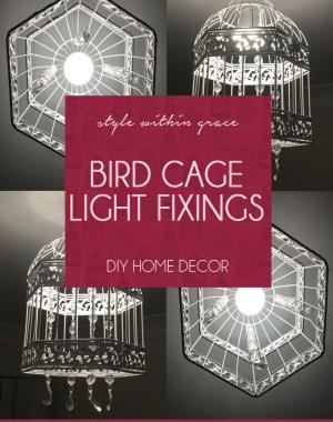 DIY: Beaded Bird Cage Light Fixings
