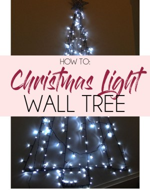 DIY Christmas Light Wall Tree