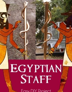 DIY Egyptian Staff Costume Prop