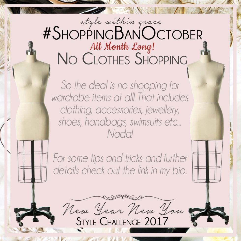 Shopping Ban October Instagram Prompt