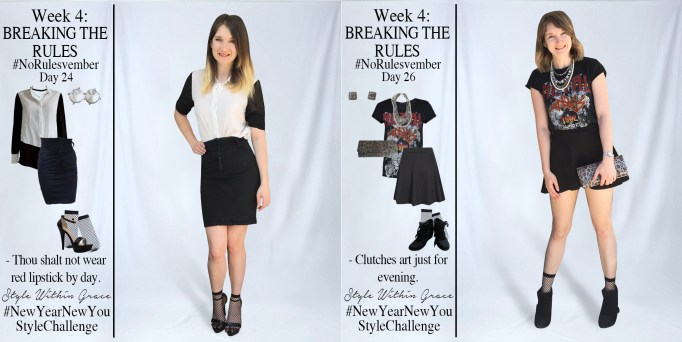 No[Rules]vember Week 4 Outfit Ideas