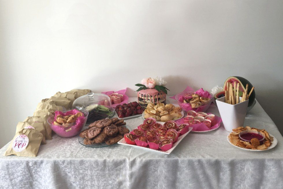 Floral Baby Shower Full Food Spread