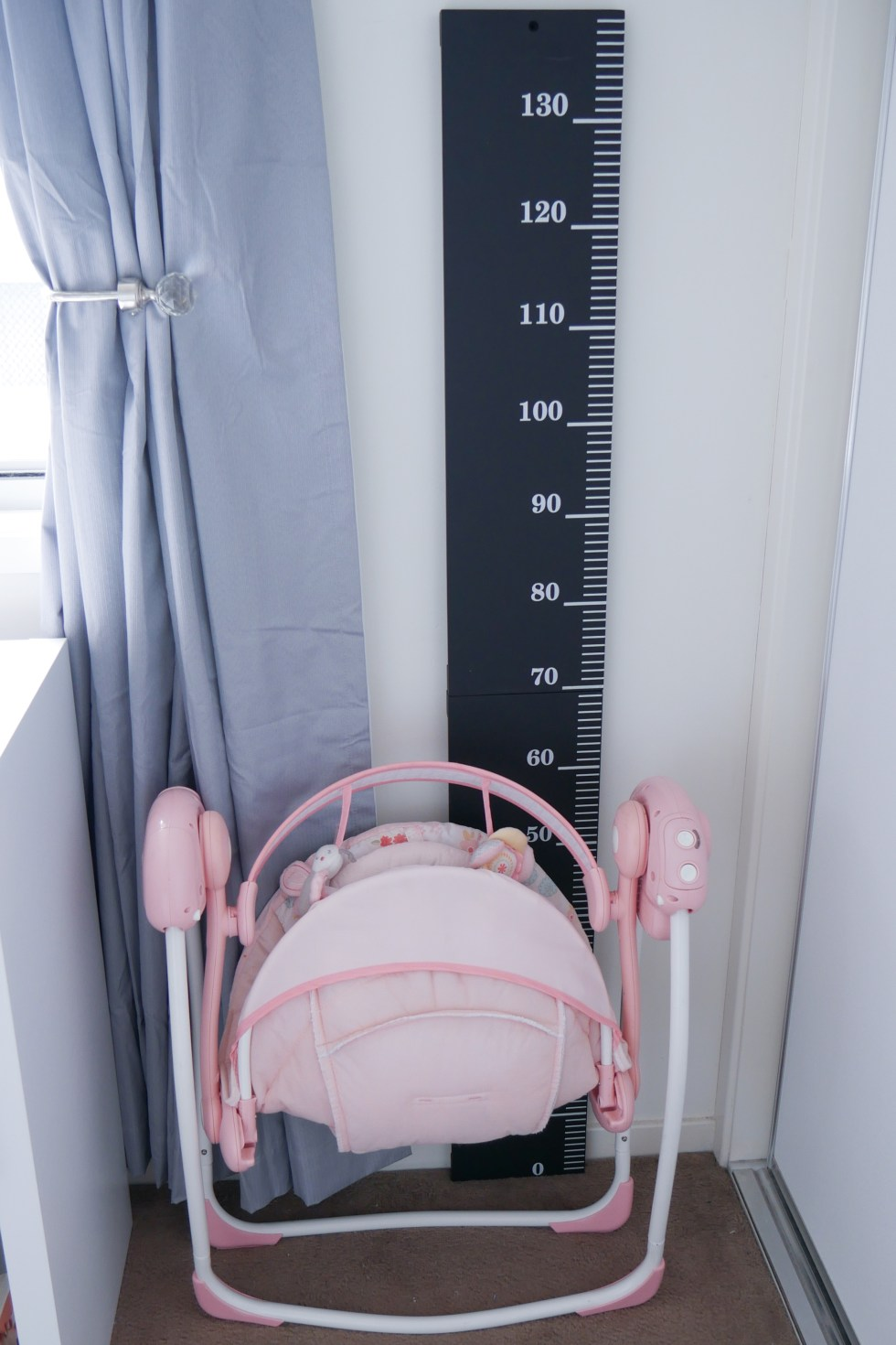 Floral Baby Nursery Reveal Height Chart and Swing