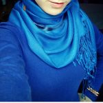 latest blue hijab style 2017 new