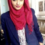 very trendy style of hijab 2017