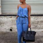 zara denim jumpsuit 2016  for women