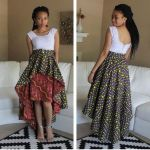 HIGH LOW AFRICAN PRINT SKIRT 2017