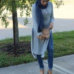Fall street styling with hijab 2017