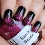black and pink nail art designs 2017