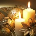 Christmas candles for decorating 2017