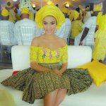Latest Asoebi Ankara Styles Short Gown 2017