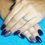 trends black nail art designs  2017