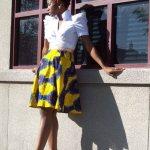 print ankara flared skirts new 2017