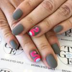 Gray Nail Designs and Ideas 2017
