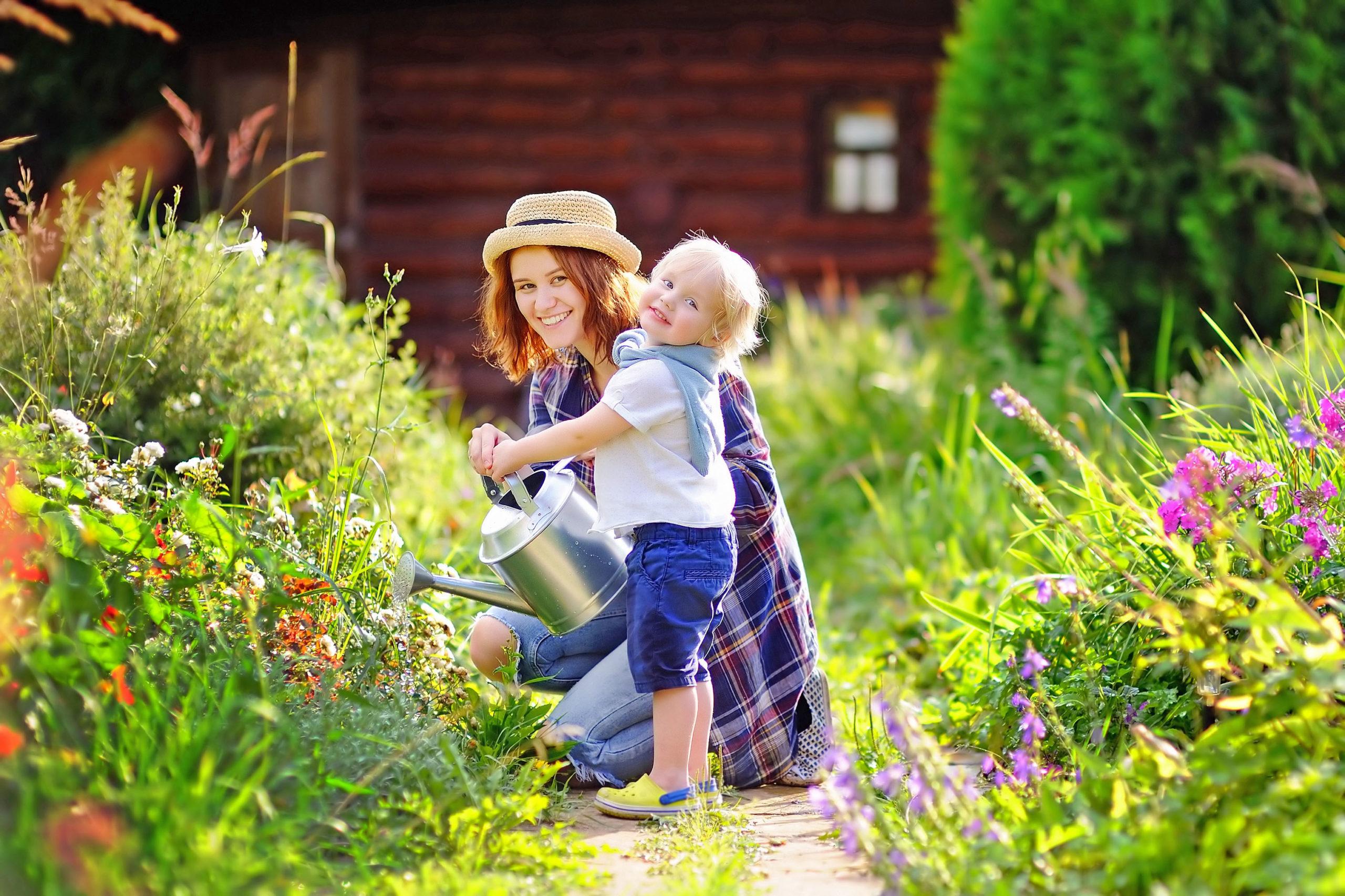 Heile Haut im heimischen Garten