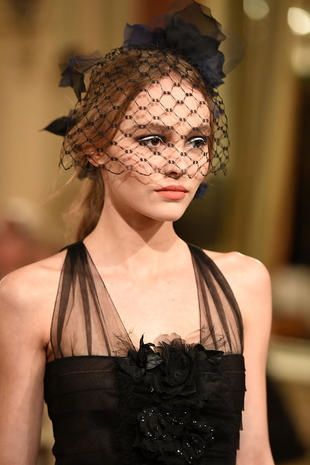 """PARIS, FRANCE - DECEMBER 06: Lily-Rose Depp walks the runway during """"Chanel Collection des Metiers d'Art 2016/17 : Paris Cosmopolite"""" show on December 6, 2016 in Paris, France. (Photo by Pascal Le Segretain/Getty Images)"""