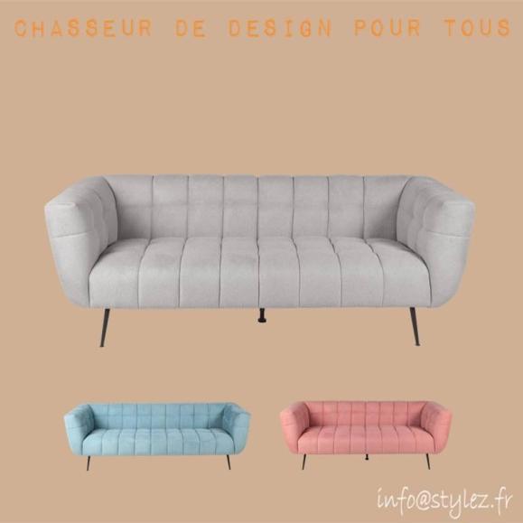 Canapé en velours en couleurs fiora