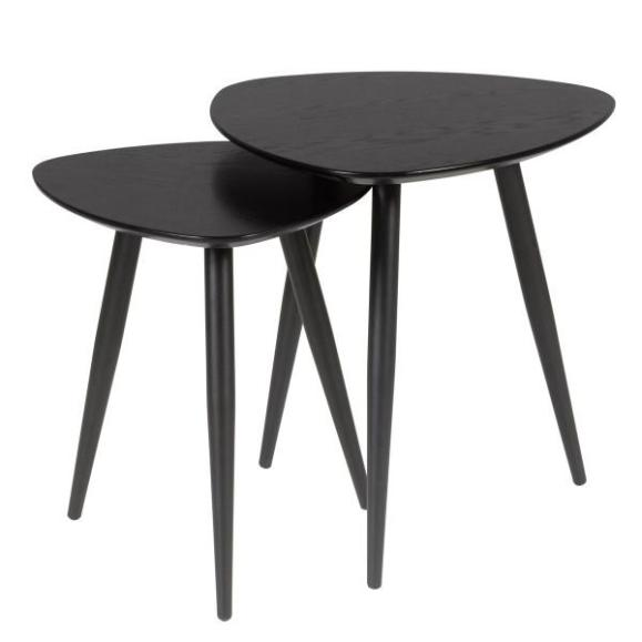 table basse gigogne noire neo