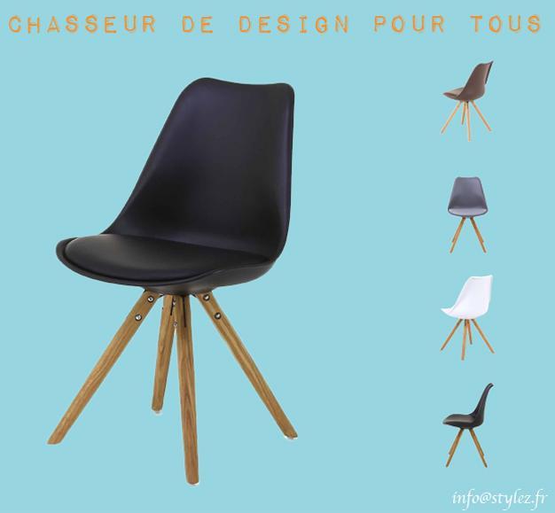 chaise tortule blanc bleu noir