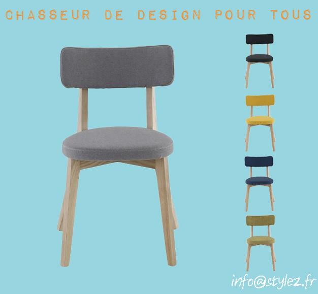 chaise frêne et couleurs