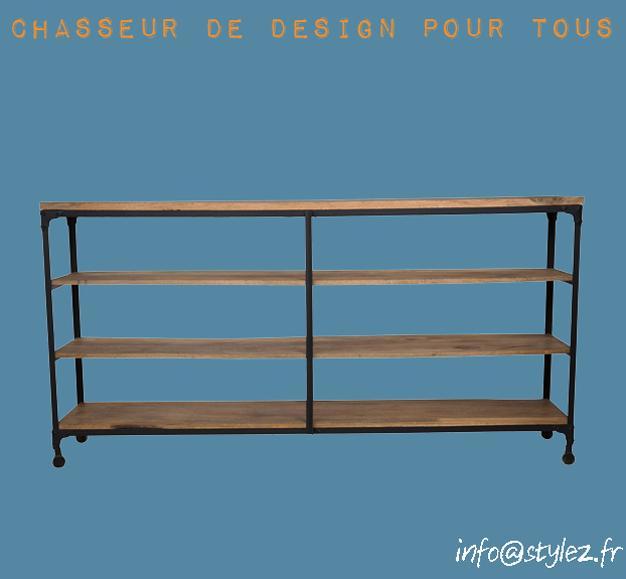 étagère spacieuse 2 colonnes 4 plateaux