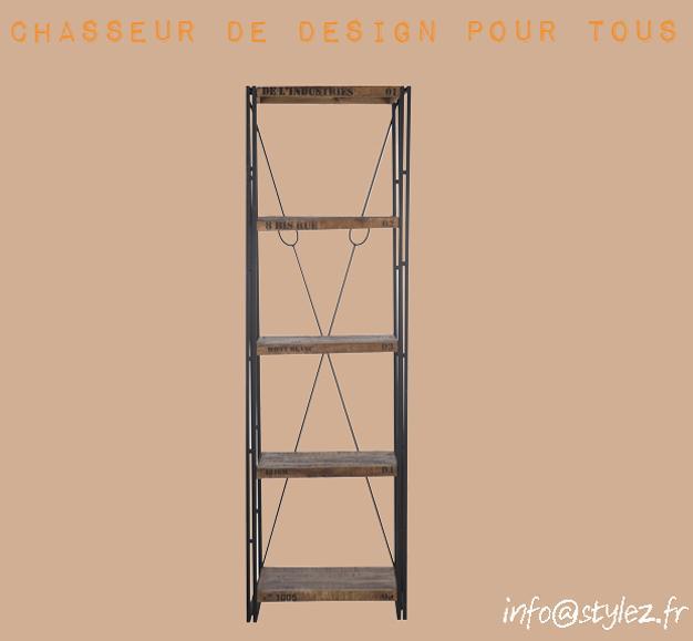 étagère vintage 4 étages bois