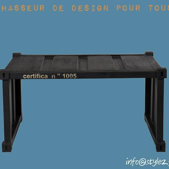 table basse en acier noir