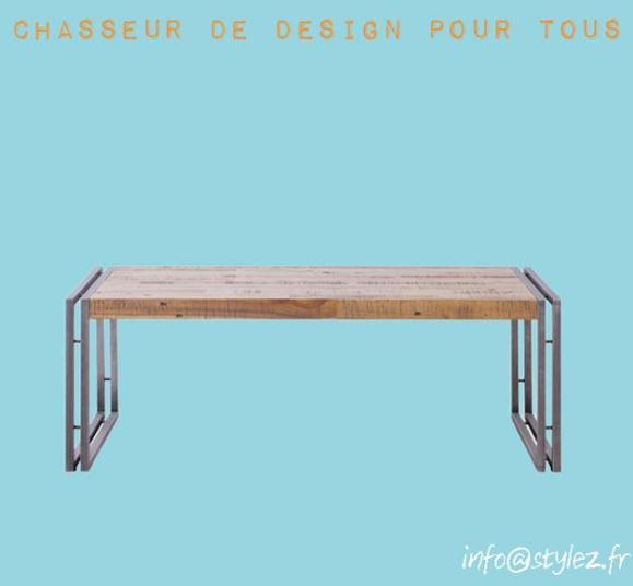 table vintage plateau bois design