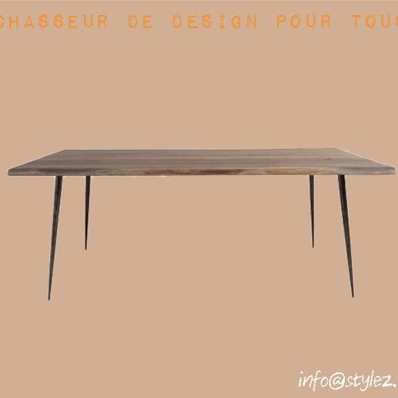 table bois naturel acacia scandinave