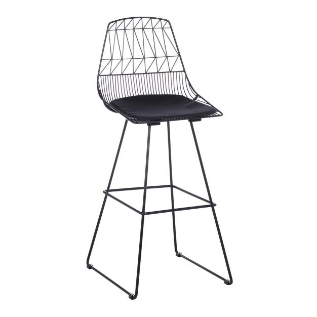 chaise design de bar noir
