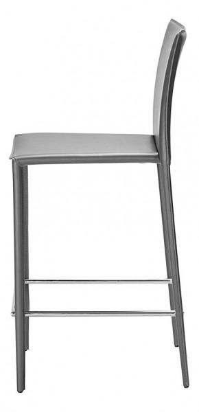 tabouret de bar gris en cuir classique