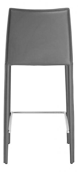 tabouret de bar en cuir 68 cm en gris