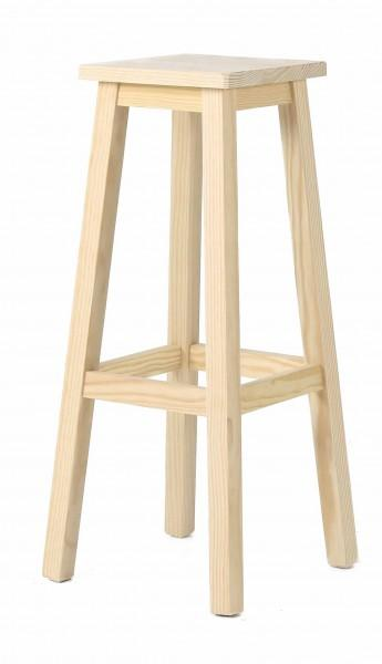 tabouret carré en bois naturel