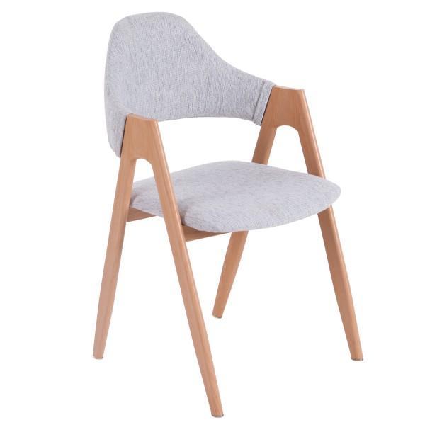 chaise nordique moderne bois lin