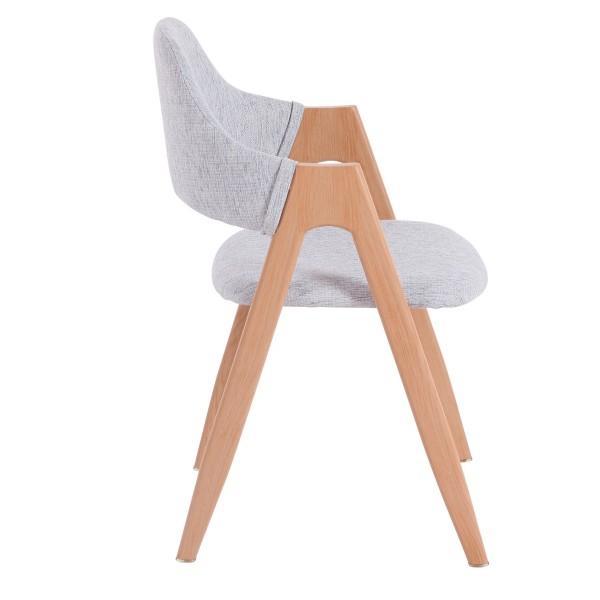chaise dossier confortable nordique clair